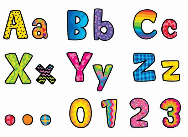 Poppin' Patterns Designer Classroom Letters