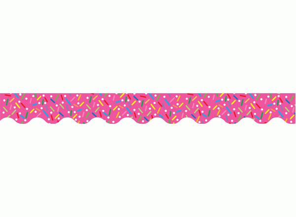 Decorative Pink Border Clip Art Sprinkles Border
