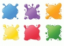 Picture of Paint Splotches Cut-outs