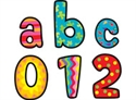 Picture of Poppin Patterns Lowercase Letter Stickers