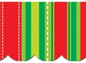 Picture of Christmas Stripes and Stitches Border