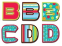 Picture of Patterns in Turquoise Uppercase Letter Stickers