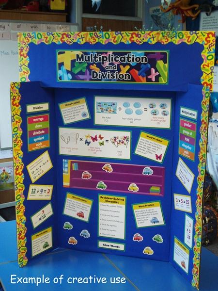 Classroom Presentation Ideas ~ Multiplication and division display set