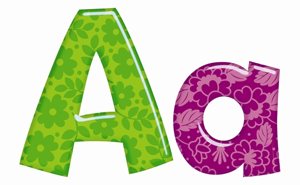 Colourful patterns classroom display ready letters for Display lettering